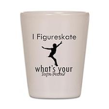 I Figure Skate Shot Glass