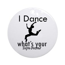 I Dance Ornament (Round)