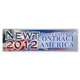 Unique Newt gingrich Car Sticker