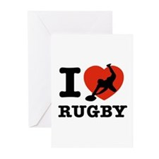 I love Rugby Greeting Cards (Pk of 20)
