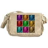 Shakespeare Pop Art Messenger Bag