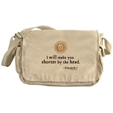 Elizabeth Beheading Quote Messenger Bag