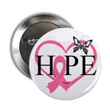 "Breast Cancer Heart Decor 2.25"" Button"