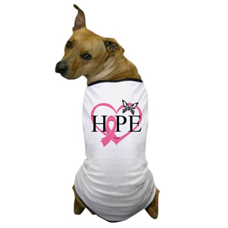 Breast Cancer Heart Decor Dog T-Shirt