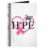 Breast Cancer Heart Decor Journal