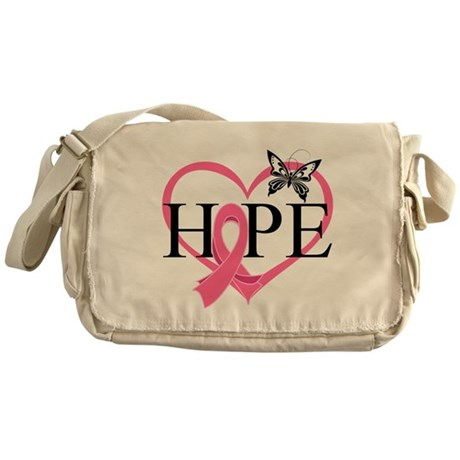 Breast Cancer Heart Decor Messenger Bag