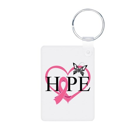 Breast Cancer Heart Decor Aluminum Photo Keychain