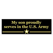 My son proudly serves Bumper Bumper Sticker