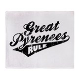 Great Pyrenees Rule Throw Blanket