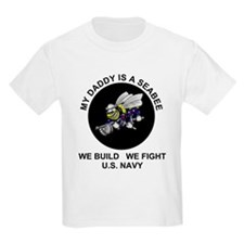 US Navy Seabee Daddy Kids T-Shirt