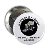 US Navy Seabee Daddy Button