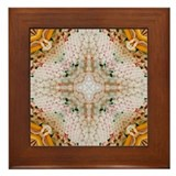 Kaleidoscope Pattern Yarn Framed Tile