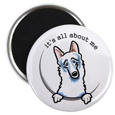 White German Shepherd IAAM Magnet