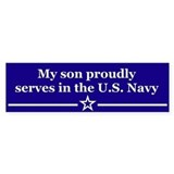 My son proudly serves Bumper Bumper Sticker