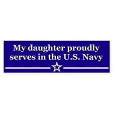 My daughter proudly serves Bumper Car Sticker