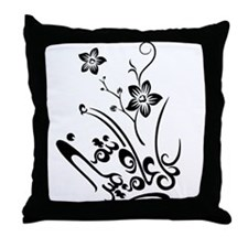 Happy Eid flower Throw Pillow