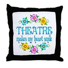 Theatre Smiles Throw Pillow