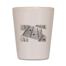 Hammered Dulcimer Shot Glass