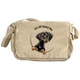 Black Tan Dachshund Lover Messenger Bag