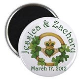 "Jessica & Zachary 2.25"" Magnets (10 pack)"