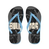 BULLIES (grey/black) Flip Flops