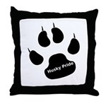 Husky Pride Throw Pillow