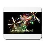 Fireworks Inspirational Mousepad