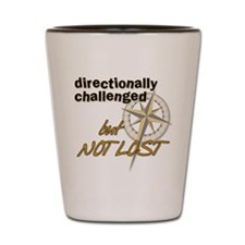 Directionally Challenged Shot Glass