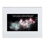 Fireworks Color Burst Wall Calendar