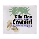 Flip Flop Cowgirl Throw Blanket