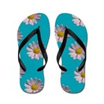 Blue Dasy Flip Flops