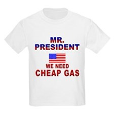 Gas Prices Mr. President Kids T-Shirt