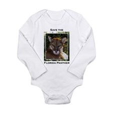Funny Panther Long Sleeve Infant Bodysuit