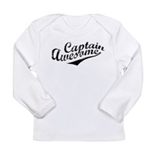 Captain Awesome Long Sleeve Infant T-Shirt