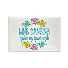 Line Dancing Smiles Rectangle Magnet