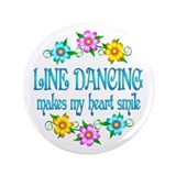 "Line Dancing Smiles 3.5"" Button (100 pack)"