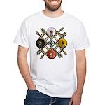 Native Medicine Wheel Mandala White T-Shirt