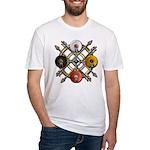 Native Medicine Wheel Mandala Fitted T-Shirt
