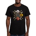 Native Medicine Wheel Mandala Men's Fitted T-Shirt