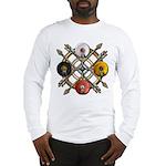 Native Medicine Wheel Mandala Long Sleeve T-Shirt