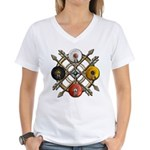 Native Medicine Wheel Mandala Women's V-Neck T-Shi