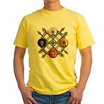 Native Medicine Wheel Mandala Yellow T-Shirt
