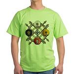 Native Medicine Wheel Mandala Green T-Shirt