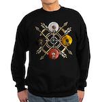 Native Medicine Wheel Mandala Sweatshirt (dark)