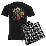 Native Medicine Wheel Mandala Men's Dark Pajamas