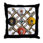 Native Medicine Wheel Mandala Throw Pillow