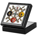 Native Medicine Wheel Mandala Keepsake Box