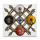 Native Medicine Wheel Mandala Tile Coaster