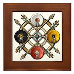 Native Medicine Wheel Mandala Framed Tile