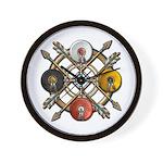 Native Medicine Wheel Mandala Wall Clock
